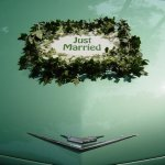 "15.2 - 1 ""Just Married""-Schild, laminiert, € 29,- (leihweise)"